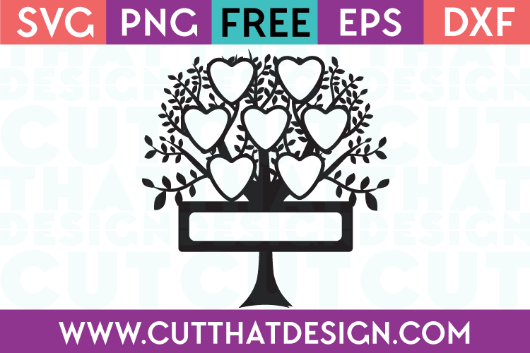 Free SVG Cut Files Family Trees