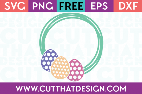 Free SVG Files Easter Egg Frame Design