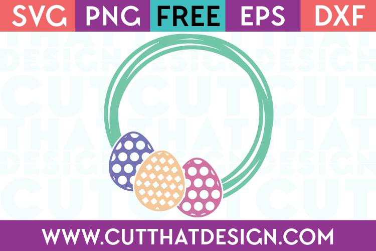 Free SVG Files Easter Egg Frame Design