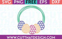 Free Easter SVG Cut Files Egg Frame