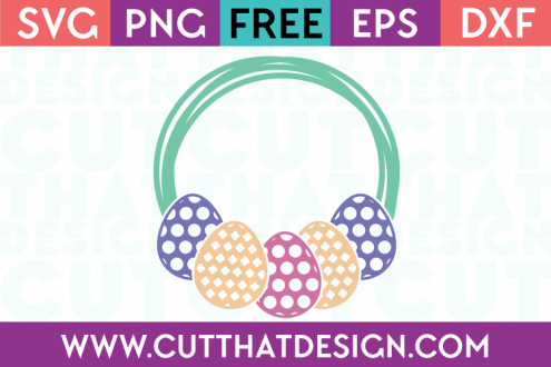 Free Easter SVG Cut Files Egg Frame