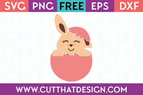 Free SVG Cut Files Easter Bunny Egg Design