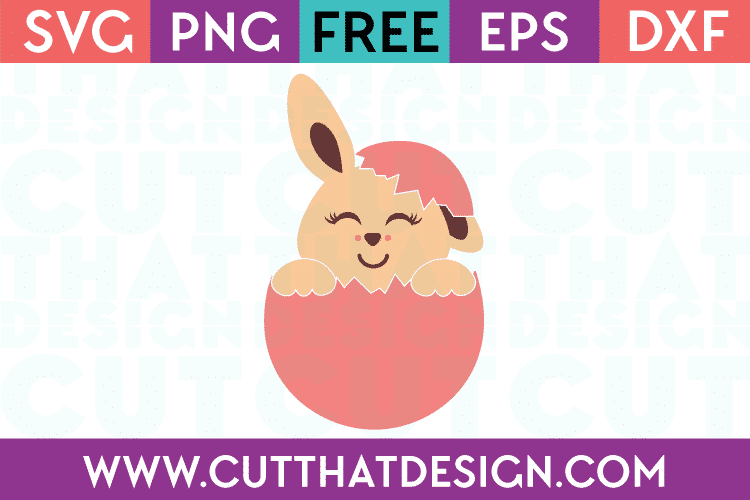 Free SVG Cut Files Easter Bunny Egg Design