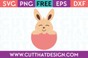 Easter Bunny Egg Free SVG