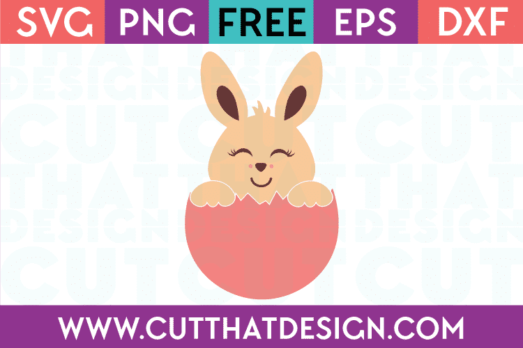 Easter Bunny Egg Free SVG