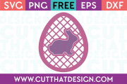 Free SVG Cut Files Easter Egg Lattice