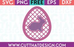 Free SVG Cut Files Easter Egg Lattice