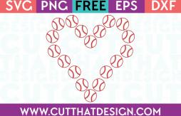Free SVG Files Baseball Heart