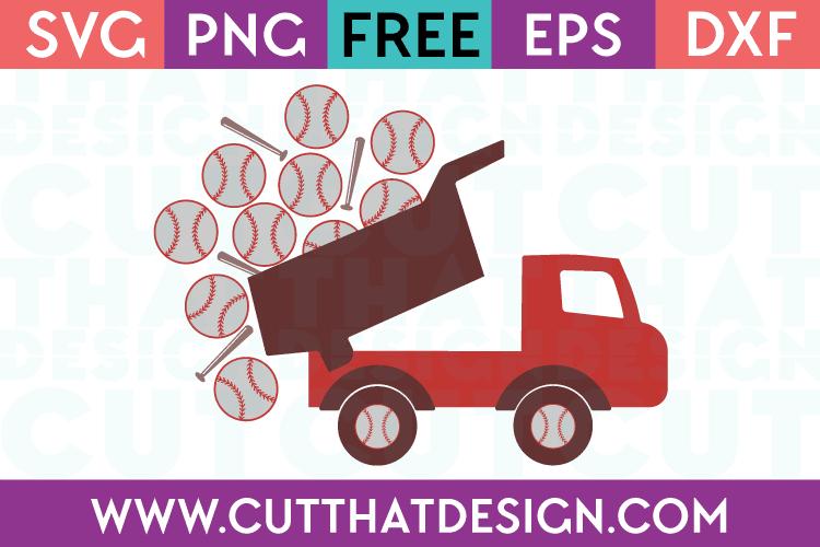 Free SVG Files Baseball Truck with Bats