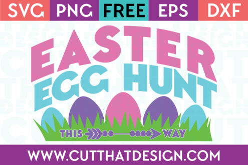 Free SVG Easter Egg Hunt Sign