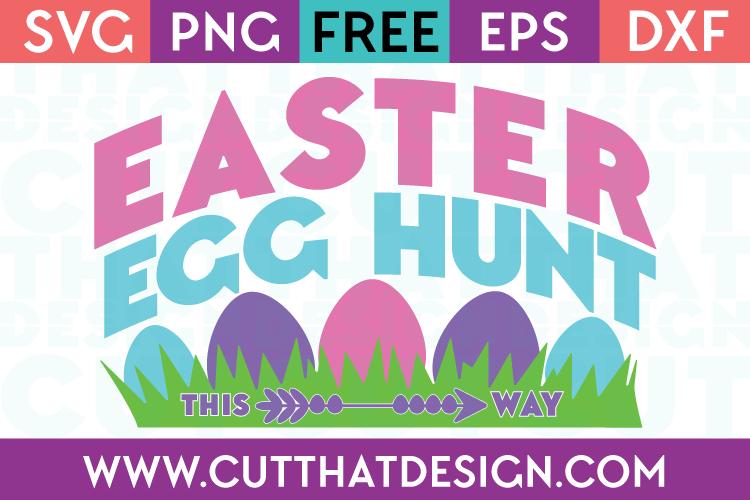 Free SVG Easter Egg Hunt Sign