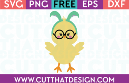 Free Easter Chick with Glasses SVG