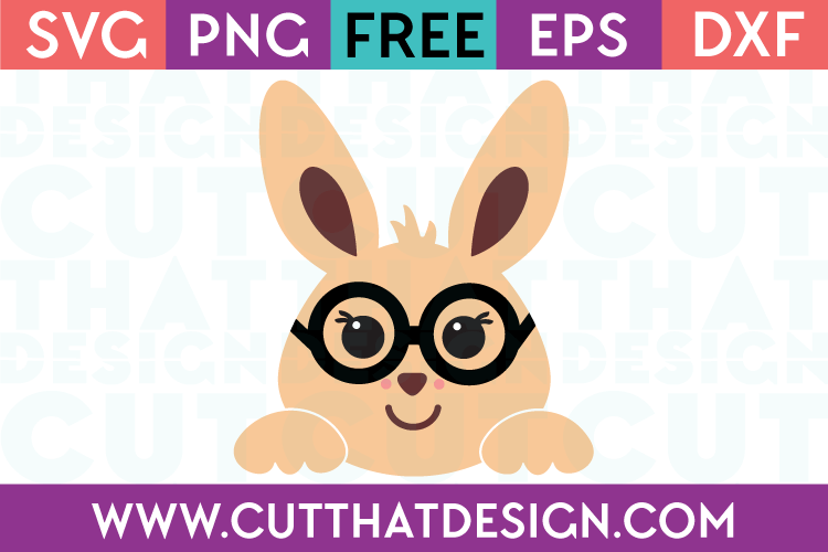 Free Easter Bunny SVG with Glasses