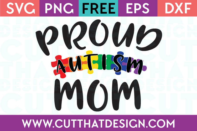 Free SVG Autism Mom