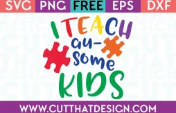 Free SVG Files Autism Awareness