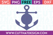 Free SVG Anchor Circle Monogram Design 2