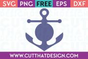 Free SVG Anchor Circle Monogram Design 2