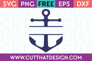 Free SVG Anchor Split Monogram