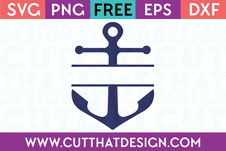 Free SVG Anchor Split Monogram