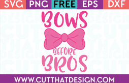 Free SVG Cut File Bows before Bros