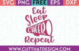 Free SVG Files Eat Sleep Cheer Repeat