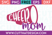 Free SVG Files Cheer Mom