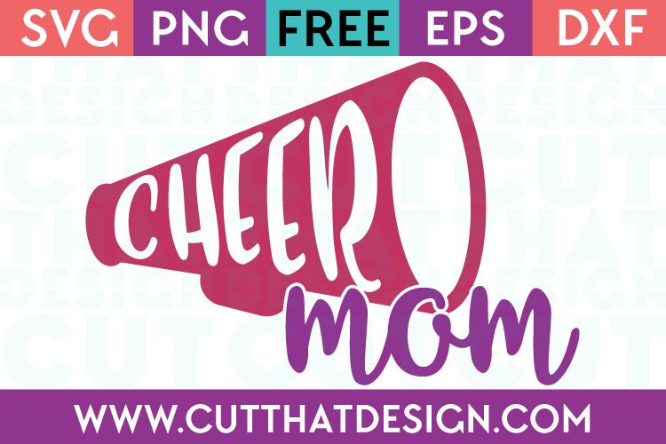 Free SVG Files Cheer Mom