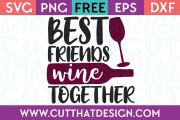 Wine Phrase Free SVG