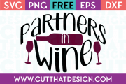 Partners in Wine SVG Free