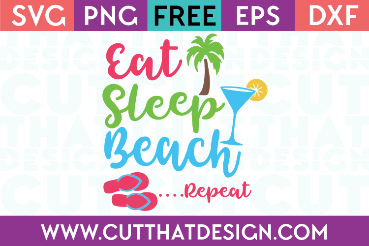 Free SVG Cut Files Beach