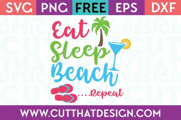 Free SVG Cut Files Beach