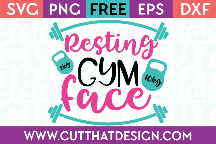 Free SVG Files Resting Gym Face