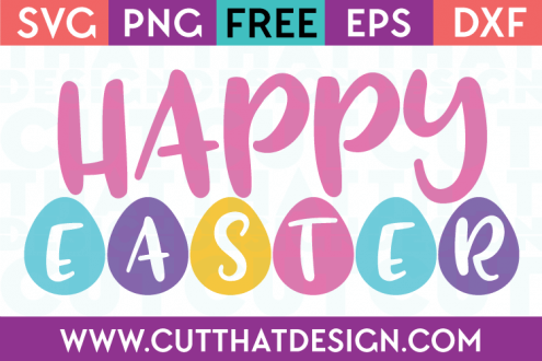 Free SVG Files Happy Easter Phrase