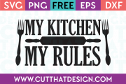 Free SVG Files My Kitchen my Rules