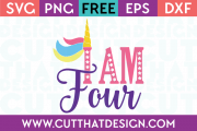 Free Unicorn birthday svg cut file