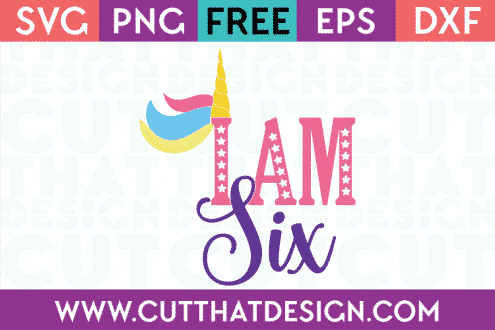 6th birthday svg free