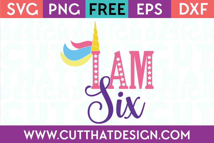 Unicorn birthday svg