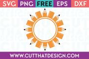 Free SVG Files Monogram Frames