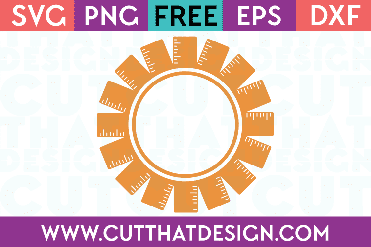 Free SVG Files Ruler Monogram Frame Design