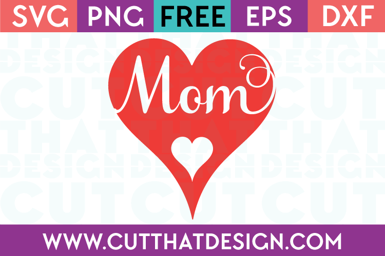 Free SVG Files Mom Heart Design