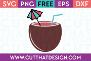 Free SVG Files Coconut Shell Drink
