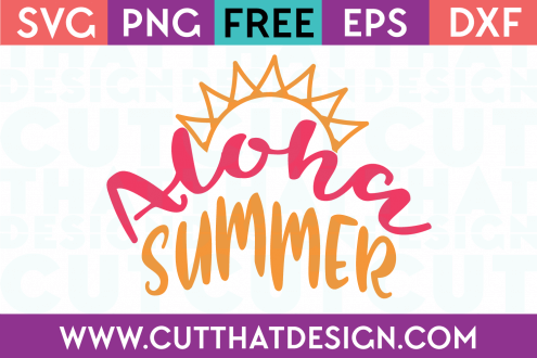 Free SVG Cutting Files Summer Time