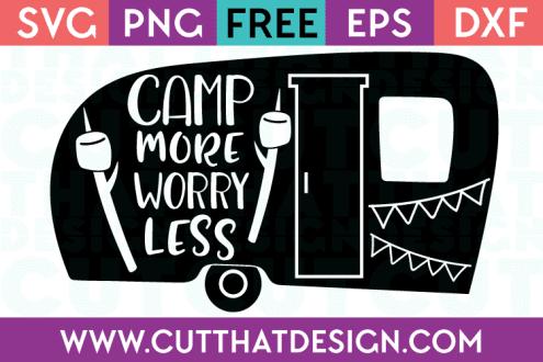 Free Cut Files Camping