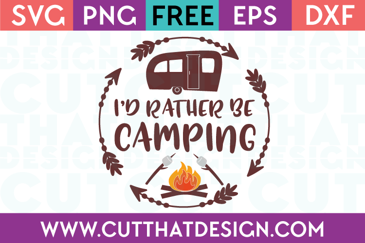 Free SVG Cut Files Camping