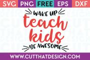 Free Cut Files Teaching