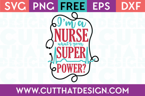 Free SVG Cutting Files Nurses