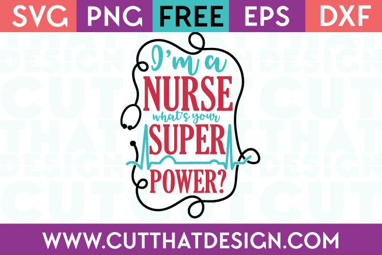 Free SVG Cutting Files Nurses