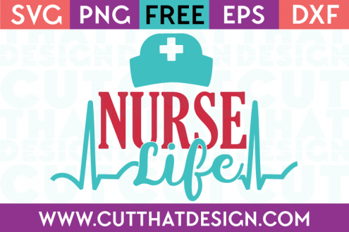 Free SVG Cut Files Occupations Nurse