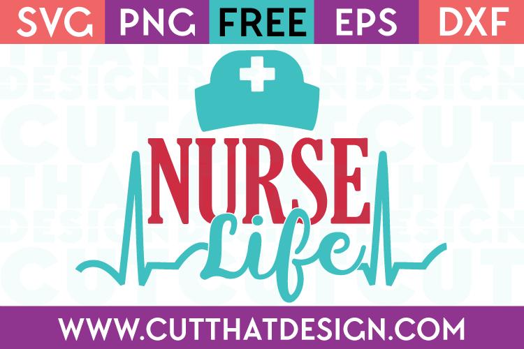 Free SVG Cut Files Occupations Nurse