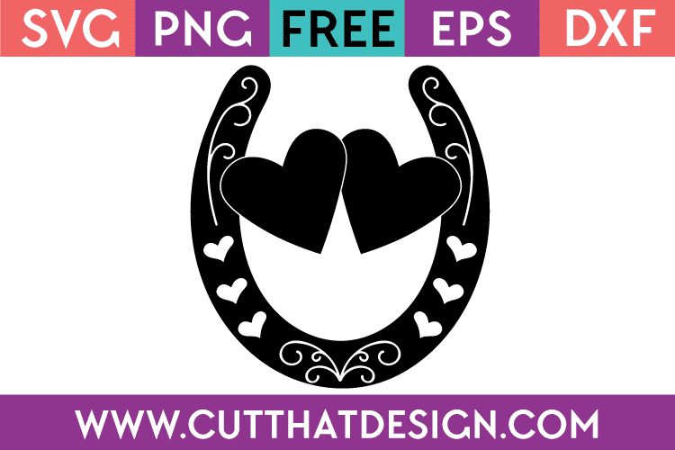 Free Cut File Wedding Horseshoe